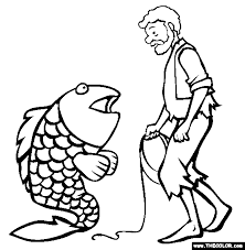 The Fisherman And His Wife Coloring Page