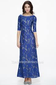 royal blue lace prom gown evening formal dresses thecelebritydresses