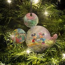Thomas Kinkade Christmas Tree Cottage by Disney Thomas Kinkade Mickey U0026 Minnie Bridge Hanging Acrylic