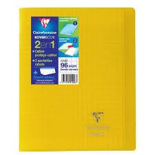 Conquerant Cahier Decriture 17x22 32 Pages 90g Seyes 4mm 2 Couleurs