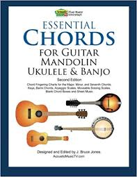 Essential Chords For Guitar Mandolin Ukulele And Banjo Second Edition Chord Fingering Charts Keys Barre Arpeggio Scales Moveable Soloing
