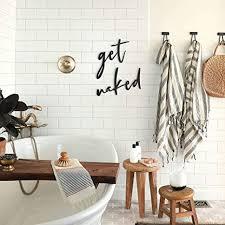 hoagard get metal wall schwarz metallwandkunst wanddekoration metall wanddeko für minimalistische und moderne badezimmer