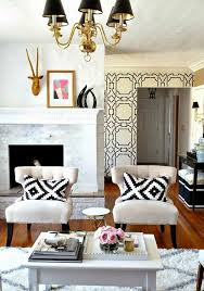 Armchairs For Living Room Accent Chairs With White Two And Pillows In The