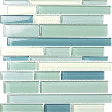 various sized glass tile mosaic gsd826 blue blend glossy