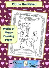 corporal works of mercy coloring pages clothe the