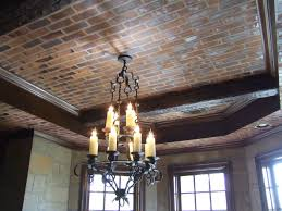 100 Brick Ceiling Faux 3D Brick On Ceiling And Stone On Walls With Sheetrock Mud