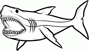 Big Angry Sharks Coloring Pages For Kids ETK Printable