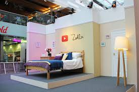 As We Walked Past Oasis More On That Soon Found Zoellas Pop Up Made To Look Exactly Like A Bedroom The Perfect Set For Vlog Think