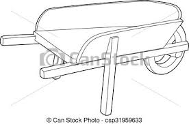 Drawing A Wheelbarrow Vector