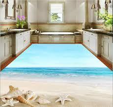 dekoration strand 3d starfish boden pvc tapete 3d wasserdichte tapete für badezimmer wand
