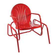 Details About Northlight Vibrant Red Retro Metal Tulip Outdoor Single Glider