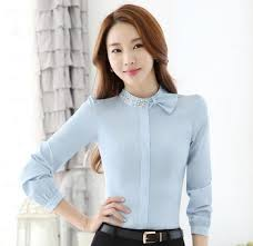 Custom 2016 Fashion Ladies Office Wear Tops Nice Blouse Designs