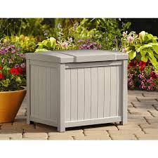 Suncast Garden Shed Taupe by Suncast 22 Gallon Light Taupe Resin Small Storage Deck Box Ss900