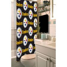 Walmart Bathroom Window Curtains by Nfl Pittsburgh Steelers Decorative Bath Collection Shower