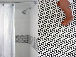 white tile shower wall bathroom with white