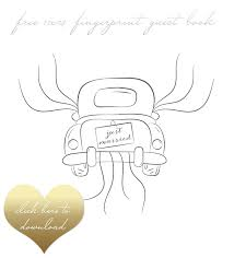 Artfully Weds Free Printable Fingerprint Wedding Guest Book