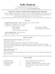 Part Time Job Resume First Resume Samples First Job Resume Example