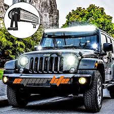 Eyourlife Jeep Wrangler 52 inch Curved LED Light Bar