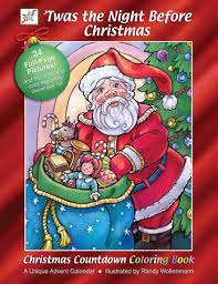 Twas The Night Before Halloween Book by Twas The Night Before Christmas Coloring Book U0026 Countdown New Fun