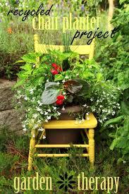Great Garden Chair Planter Ideas Gardening Outdoor Furniture Living Painted
