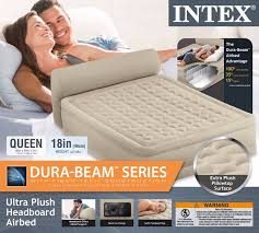Aerobed Raised Queen With Headboard by Intex Queen Raised Headboard Air Bed Mattress Airbed Built In Pump