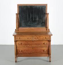 antique tiger oak dresser with mirror ebth