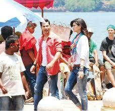 Varun Dhawan Kriti Sanon on the sets of Dilwale s