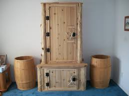 Rustic Furniture Hidden Gun Cabinet Cabinets Key Coded Locks With Barrel Rests Are