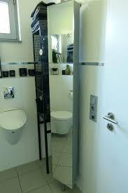 drehschrank bad spiegel schrank grau metall 360 grad