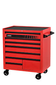 Red 8-Drawer Service Cart At National Tool Warehouse