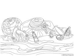 Beach Coloring Pages 2