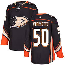Mens Adidas Anaheim Ducks 50 Antoine Vermette Authentic Black Home NHL Jersey