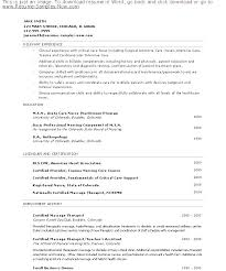 Sample Massage Therapist Resume Therapy Resumes Examples Samples