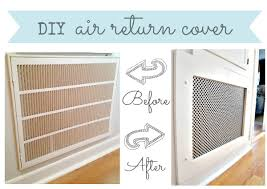Decorative Return Air Grille 20 X 20 by How To Make A Decorative Air Return Vent Cover Crawl Spaces