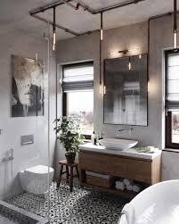 eklektisches schwarz weiß badezimmer badezimmerid