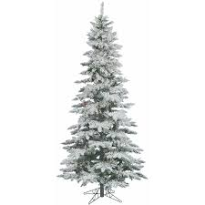 White Flocked Pencil Christmas Tree by Flocked Pre Lit Christmas Tree Christmas Lights Decoration