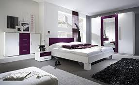 unbekannt schlafzimmer komplett 54018 4 teilig weiß lila