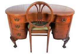 Antique Kidney Shaped Desk & Chair Sold but more desks on my