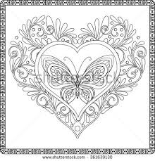 Coloring Book For Adult And Older Children Page Decorative In Zentangle Style