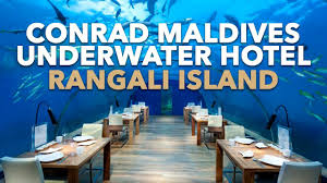 100 Rangali Resort AMAZING Conrad Maldives Islands Underwater Hotel