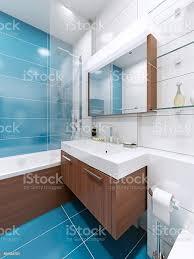 waschbeckenkonsole in blau badezimmer stockfoto und mehr bilder accessoires