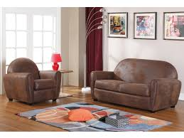 canapé cuir vieilli marron canapé et fauteuil en microfibre vieilli victory ii