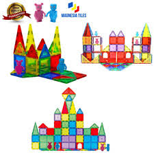 Magna Tiles 100 Piece Target by 100 Magna Tiles Clear Colors 32 Pc Set Magna Tiles Clear