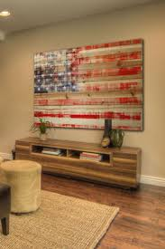 Rustic American Flag Decor Wall Art Wooden Creative Photos Brown Distressed Wood By Marmont Hill On