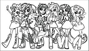 Equestria Girls Coloring Pages My Little Pony Twilight Sparkle Page