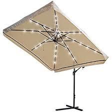 amazon com yescom 9x9ft square solar power led patio offset