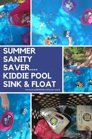 backyard stem kiddie pool sink and float