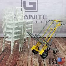 Dual Chiavari Chair Cart - Holds 10 Chairs, 500 Lb Capacity - USA Made - 5