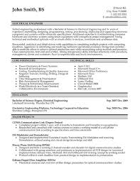 Electrical Engineer Resume Sample Template