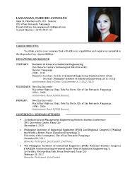 Curriculum Vitae Example For Fresh Graduate Resume Sample Graduates Philippines Frizzigame
